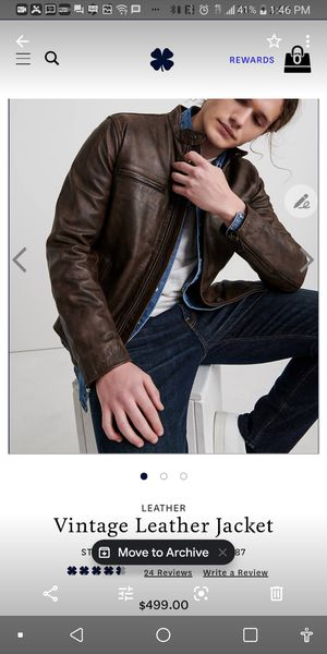 Lucky Brand leather jacket...Large brand new for Sale in Rosedale, MD