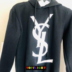 Yves Saint Laurent YSL Paris Black XL Sweatshirt Vintage Hoodie - Fits Small for Sale in Washington, DC