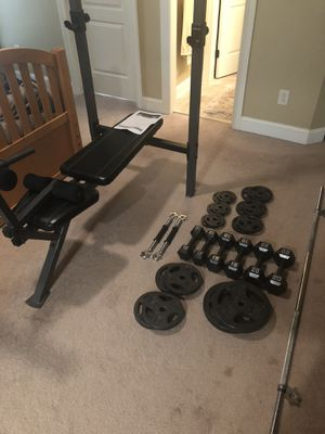 Weight and workout set for Sale in Greer, SC