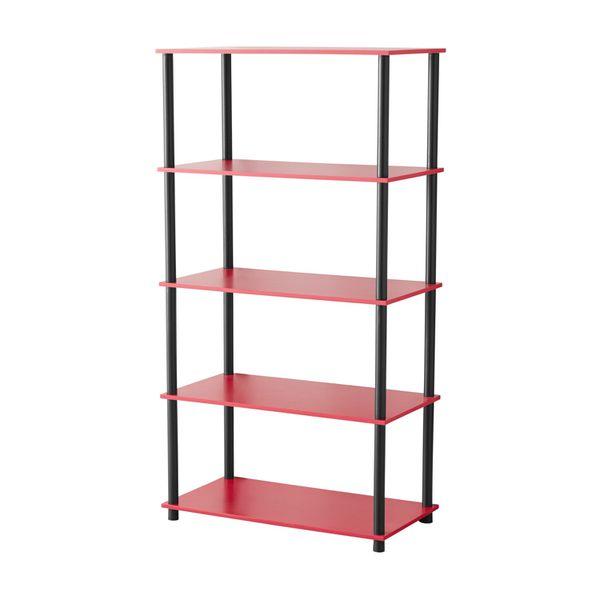 8 Cube Storage Unit Black, Red Shelving Unit Multiple Colors