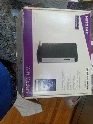 Netgear N450 WIFI Modem docsis 3.0 for Sale in Rochester, MN