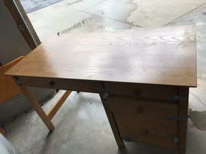 Solid ash wood desk with bookcase for Sale in Bridgewater, MA