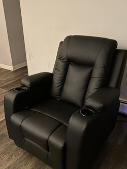 Black Leather Recliner for Sale in Palatine,  IL
