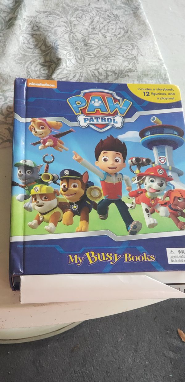 Lot puzzles, matching games & paw patrol book play