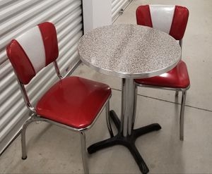 Adorable 1950s style chrome bistro table and chairs for Sale in Falls Church, VA