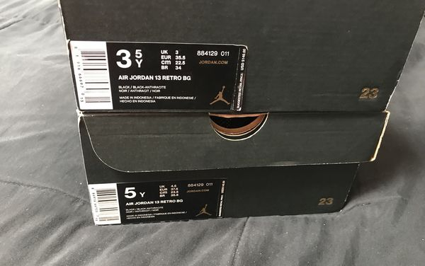 Nike Air Jordan XIII 13 Retro Black Cat size 4y or 6.5y Basketball Shoes NEW DS!