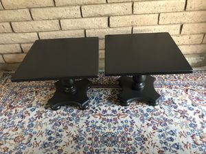 Ethan Allen pair of black tables for Sale in Tempe, AZ