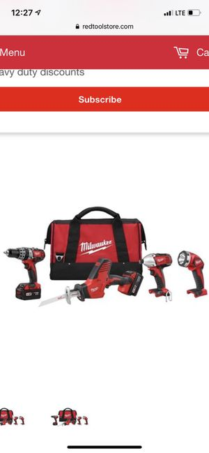Milwaukee m18 4 tool combo for Sale in Riverside, CA