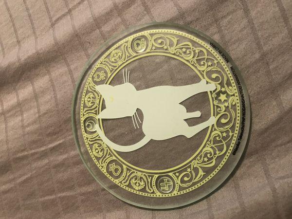 Artemis and Luna glass coasters