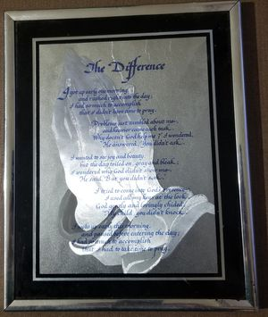 The Difference Christian Catholic Prayer Print framed for Sale in Three Rivers, MI