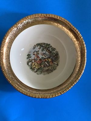 Circa WWII hand painted antique china set in 22k Gold for Sale in Philadelphia, PA
