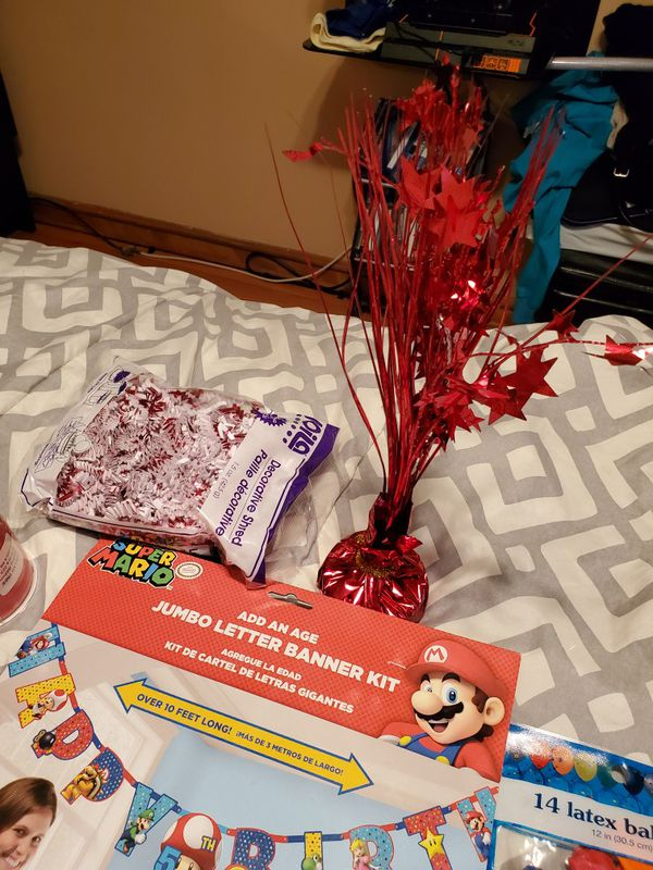 Super Mario brother birthday decorations
