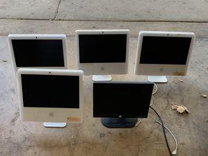 3 APPLE IMACS + 1 HP MONITOR (PARTS+REPAIR) for Sale in San Antonio, TX