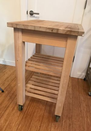 Butcher block rolling table for Sale in San Francisco, CA