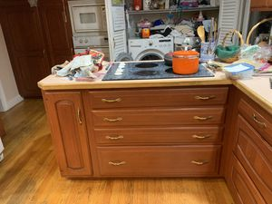 Cherry kitchen cabinets for Sale in North Andover, MA