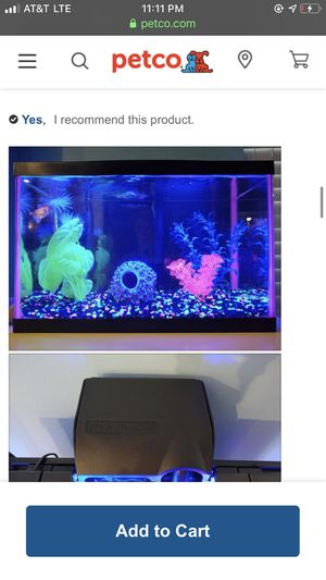 5.5 gallon brand new fish tank with Extras everything u can buy for glow fish 700$ value for Sale in Tulsa, OK