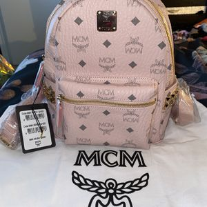 Authentic Pink Studded MCM Backpack for Sale in Houston, TX