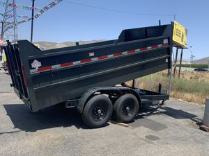 Dump Trailer 8x14x4 drop 3 14000lb gvw $8500+ tax lic for Sale in Whittier, CA