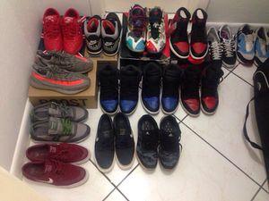 Cash or trades size 10-12 Yeezy v2 Jordan lebron Nike supreme royal bred 1s shoes for Sale in Miami, FL