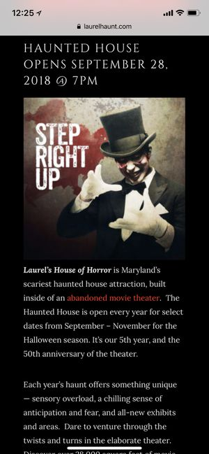 Laurel's House of Horror tickets for Sale in Fairfax, VA