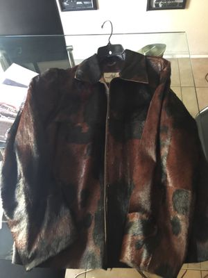 Pony hair leather jacket xxl Moncler Givenchy supreme bape palace off-white for Sale in Seattle, WA