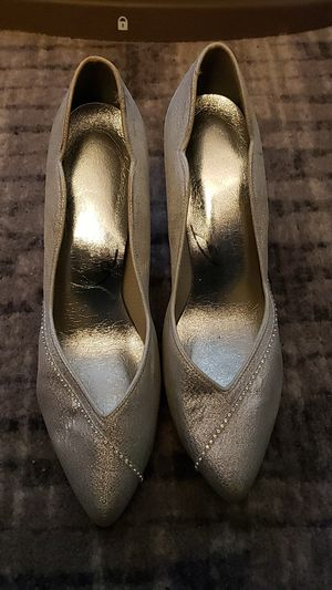 Silver dress shoes for Sale in Columbus, OH