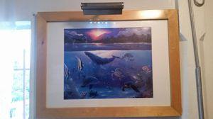 Underwater ocean scene picture frame and Light for Sale in Coronado, CA