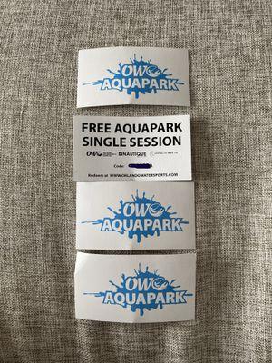 4 Aquapark tickets for Sale in Alafaya, FL