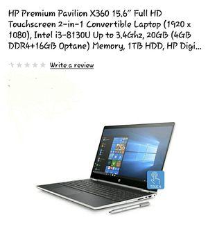 "HP Pavilion X360 15.6"" Full HD Convertible Touchscreen w/ Digital Pen Windows 10 for Sale in Murfreesboro, TN"