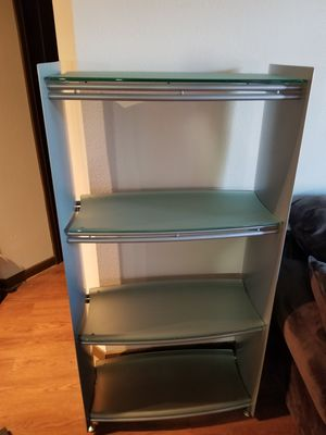 Metal and Glass Bookshelf for Sale in Houston, TX