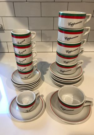 Espresso and cappuccino cups and saucers for Sale in New Rochelle, NY