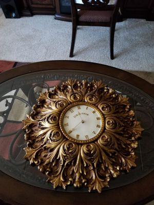 Antique gold clock for Sale in Baltimore, MD