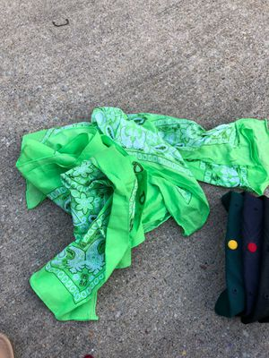 4 green bandanas for Sale in Parkville, MD