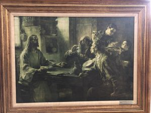 """Supper At Emmaus Framed Painting 41""""x 32"""" for Sale in Winter Haven, FL"""