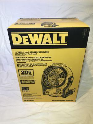Dewalt Corded/Cordless Jobsite Fan 20v Battery Option for Sale in Fairfield, CA