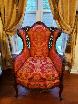 Imperior Antique chair newly upholstered for Sale in San Francisco, CA