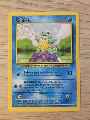 1995 Squirtle Pokemon Card for Sale in Port Richey, FL