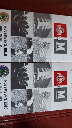 2 OSU Maryland Tickets sec. 4b row 8 (under cover) for Sale in Hilliard, OH