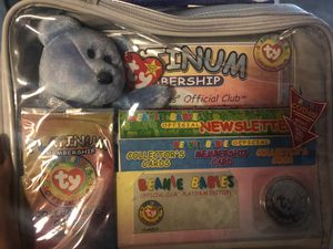 Clubby II Ty Beanie Baby platinum member set for Sale in San Jose, CA