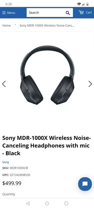 Sony MDR-1000X Wireless Noise-Canceling Headphones with mic - Black (NEW) for Sale in HVRE DE GRACE, MD