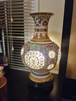 Unique Chinese vase lamp for Sale in Gaithersburg, MD
