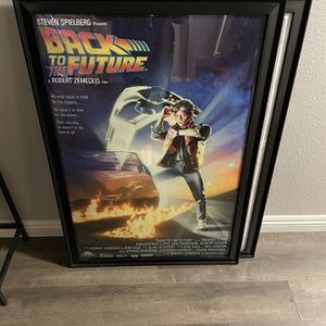 Back To The Future Poster W Frame for Sale in Whittier, CA