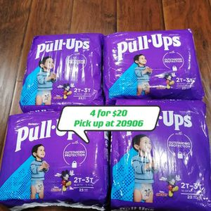 Huggies Pull Ups Diapers Size 2t-3t for Sale in Silver Spring, MD