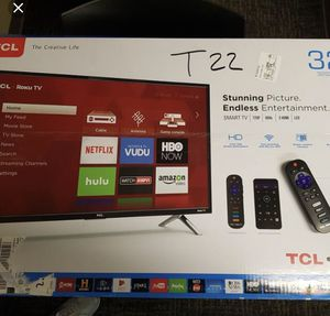 """32"""" tcl with Roku tv (BRAND NEW) for Sale in Columbia, SC"""