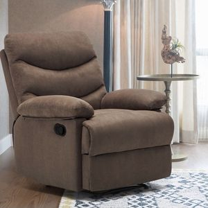 Massage Recliner Chair, Microfiber Ergonomic Sofa Living Room Sofa Home Theater Seating, Brown for Sale in Raleigh, NC