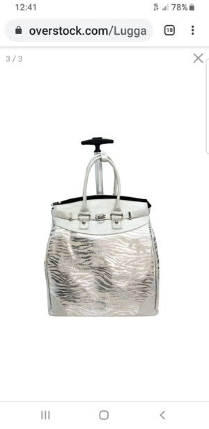 Silver Womens Rolling Laptop Tote Bag for Sale in Kent, WA