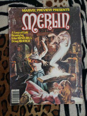 1980 Marvel Preview Presents Merlin Comic Book No. 22 for Sale in Hemet, CA