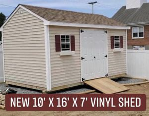 New 10' x 16' x 7' Almond Vinyl A Frame Shed for Sale in Marblehead, MA