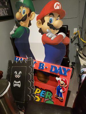 Super Mario birthday party decorations for Sale in Corona, CA