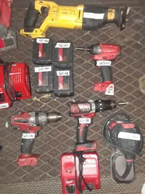 Milwaukee tools and dewalt sawzall for Sale in Indianapolis, IN
